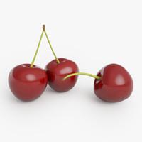 3d cherry rendering model