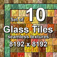Glass Tiles 10x Seamless Textures, set