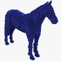 voxel horse 3d model