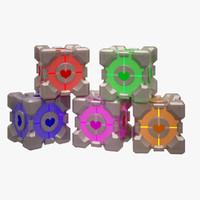 3d portal cube model