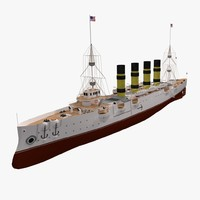 3d model steamship steam