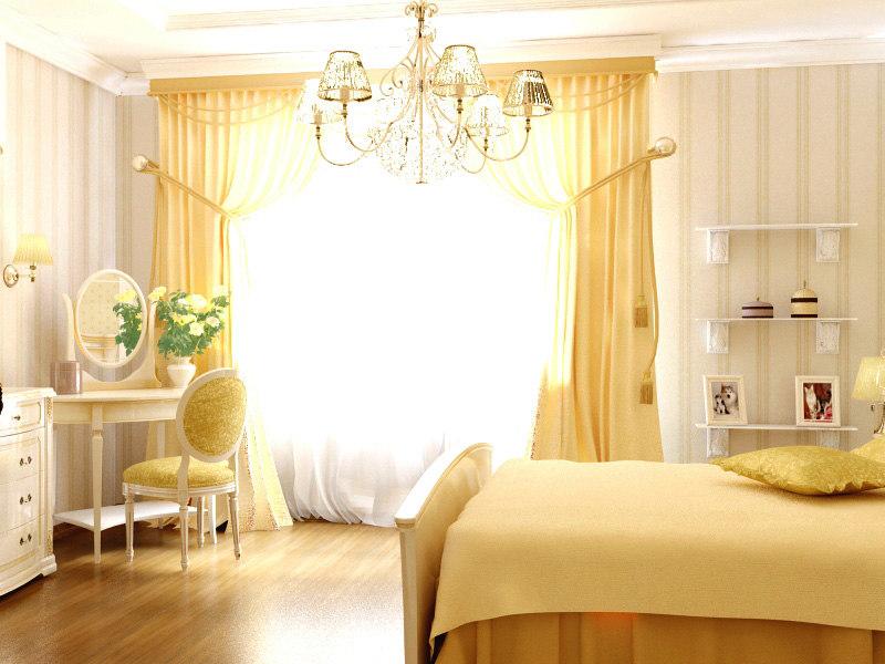 bedroom pleasant light colors 3d max
