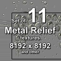 Metal Relief 11x Textures, set #3