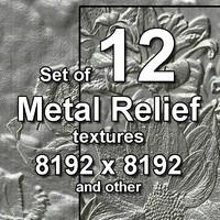 Metal Relief 12x Textures, set #1