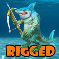shark man 3d fbx