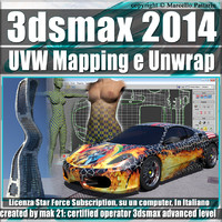 3ds max 2014 UVW Mapping e Unwrap Subscription