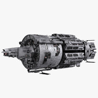 merchanter ship space cruiser 3d 3ds