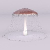3d mushroom swimming pools model