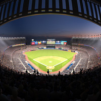 Yankee Stadium with Animated Audience