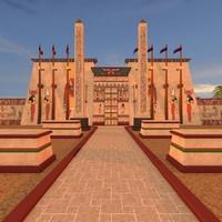 3d model karnak temple