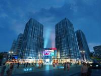 modular skyscraper business center 3d max