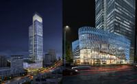 modular skyscraper business center 3d model