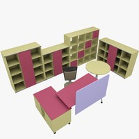 rack office table 3d model