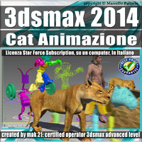 3ds max 2014 Cat Animazione Subscription