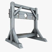 medieval pillory 3d 3ds