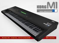 digital synthesizer korg m1 c4d