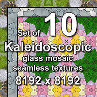 Kaleidoscopic Glass 10x Seamless Textures, set #2