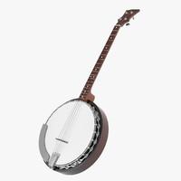 3d model banjo string