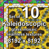 Kaleidoscopic Glass 10x Seamless Textures, set #6