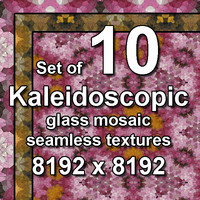 Kaleidoscopic Glass 10x Seamless Textures, set #4