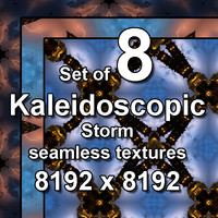Kaleidoscopic Storm 8x Seamless Textures, set #10