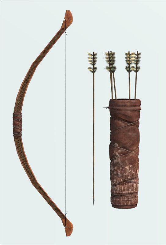 3d celtic bow model