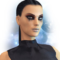 woman character 3d max