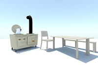 3d model aga table set