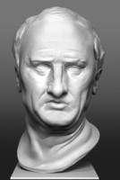 3d model bust marcus tullius cicero
