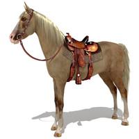 3ds max horse saddle