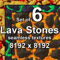Lava Stones 6x Seamless Textures