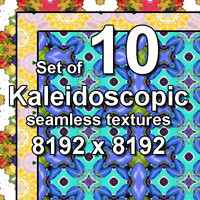 Kaleidoscopic 10x Seamless Textures, set #14