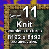 Knit 11x Seamless Textures