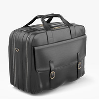 leather suitcase 3d max