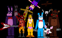 minecraft foxpack nights freddys 3d model