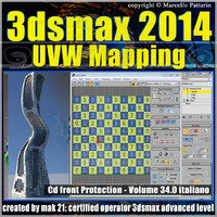 3dsmax 2014 UVW Mapping v.34 cd front