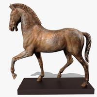 3d 3ds figurine horse statuettes