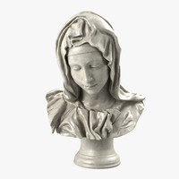 3d model bust pieta michelangelo