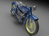 moto motorcycle cycle 3d model