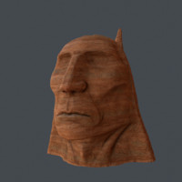 Chieftain stone head