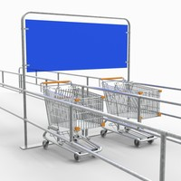 3d trolley rack