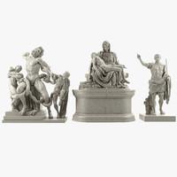 3d statue 2 model
