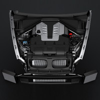 v8 engine bmw x5 3d obj