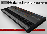 roland juno-106 c4d