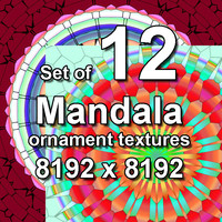 Mandala Ornament 12x Textures, set #2