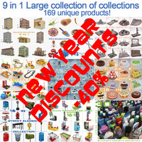 3d large collections 9 1 model