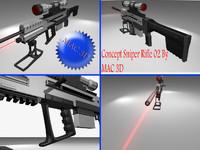 concept sniper rifle 02 3d model