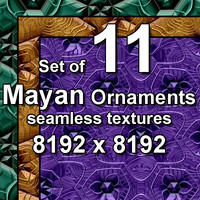 Mayan Ornaments 11x Seamless Textures, set #4