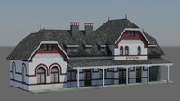 3ds max sourbrodt train station