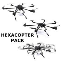 3d model of hexacopter pack